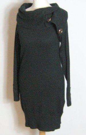Orsay Sweater Dress black wool