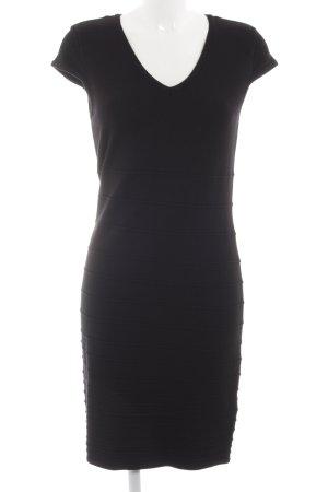 Orsay Gebreide jurk zwart casual uitstraling