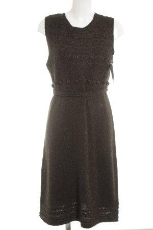 Orsay Robe en maille tricotées noir-gris foncé moucheté style décontracté