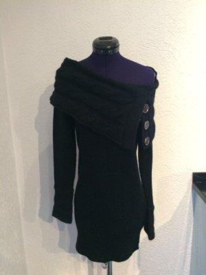 Orsay Strickkleid XS mit außergewöhnlichem Kragen