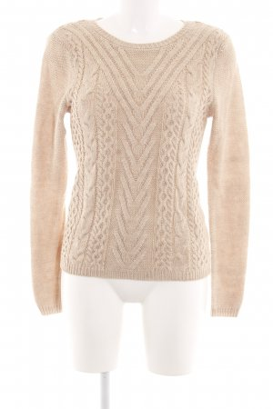 Orsay Strickpullover creme Zopfmuster Casual-Look