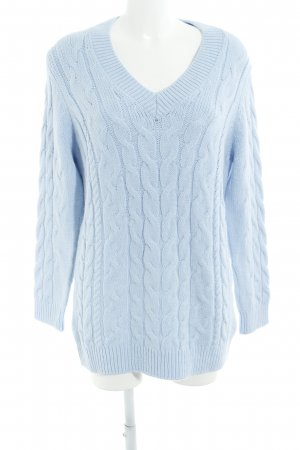 Orsay Strickpullover himmelblau Zopfmuster Casual-Look