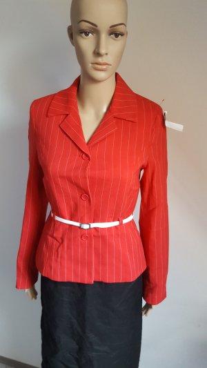 Orsay Style Damen Blazer tailliert mit weißem Gürtel rot Größe 36