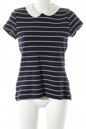 Orsay T-Shirt dunkelblau-weiß Streifenmuster Business-Look