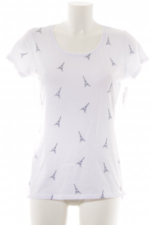 Orsay T-Shirt weiß-dunkelblau Motivdruck Casual-Look