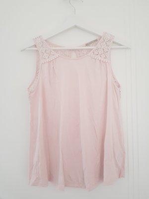 Orsay Haut en dentelle rose clair