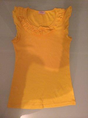 Orsay Top Shirt Tshirt Gr. XS 34 gelb ärmellos NEU