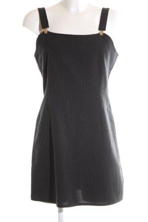 Orsay Vestido tipo overol negro estampado repetido sobre toda la superficie