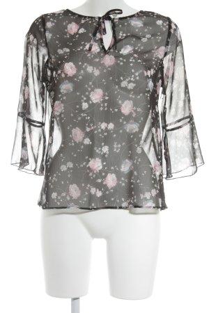Orsay Transparenz-Bluse Blumenmuster Romantik-Look