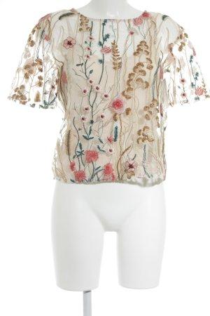 Orsay Transparenz-Bluse creme Blumenmuster Romantik-Look
