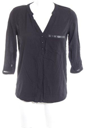 Orsay Transparenz-Bluse schwarz Casual-Look