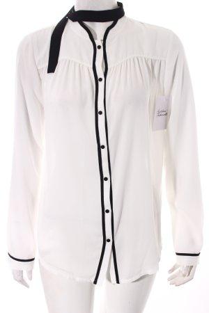 Orsay Transparenz-Bluse weiß-schwarz Elegant