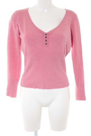 Orsay V-Ausschnitt-Pullover rosa Casual-Look