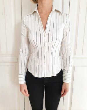 Orsay weiß Bluse Hemd 32 XXS Top T-Shirt Tshirt shirt shirt Business Anzug Blazer Streifen Schwarz