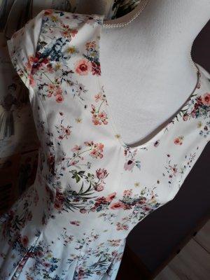 Orsay Weißes Frühlingskleid mit V-Ausschnitt Gr.36
