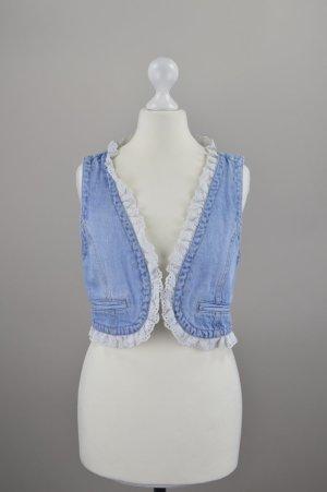 Orsay Weste Jeansweste mit Spitze neu mit Etikett blau Größe 38