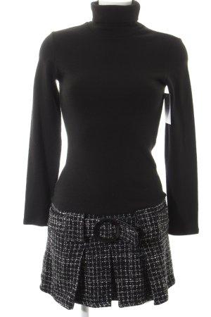 Orsay Vestido de lana negro-blanco estampado artístico look Street-Style