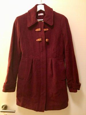 Orsay Wool Coat bordeaux-sand brown wool