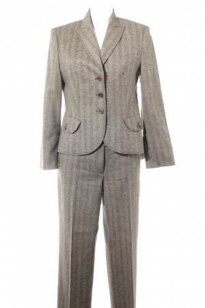 Orwell Suit Trouser grey brown-black herringbone pattern business style