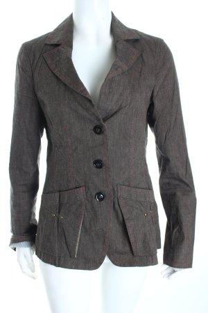 Orwell Blazer graubraun-rot Street-Fashion-Look