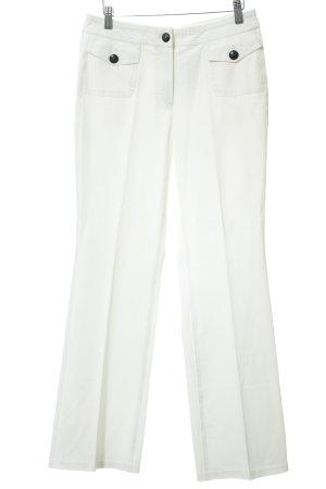 Orwell Pantalon à pinces blanc élégant