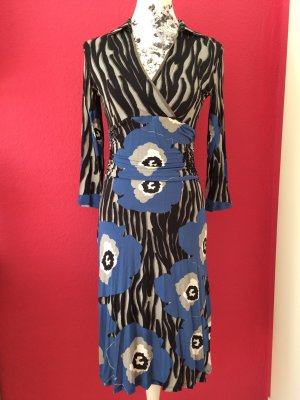 Orwell grau-schwarz-blau elegant fallendes Jerseykleid