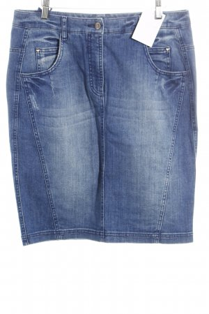 Orwell Jeansrock blau-wollweiß Washed-Optik