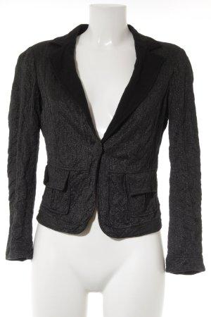 Orwell Jersey Blazer negro-color plata look casual