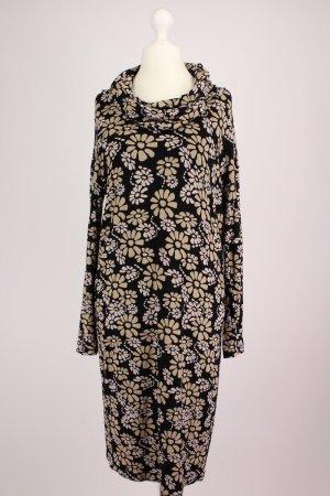 Orwell Kleid mit Blumen-Muster schwarz Größe 40