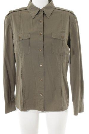 Orwell Langarm-Bluse khaki Military-Look