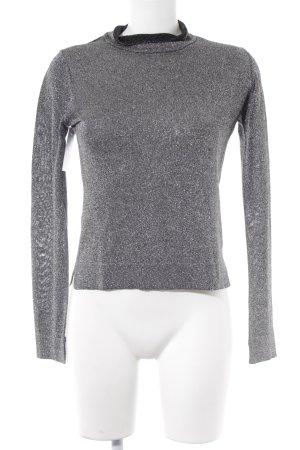 Orwell Langarm-Bluse schwarz-silberfarben Casual-Look