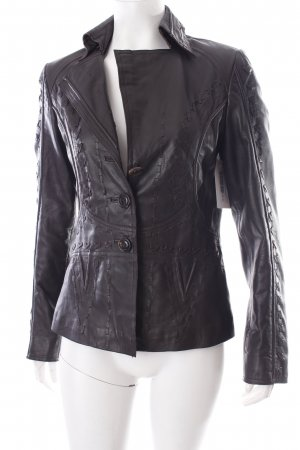 Orwell Leather Blazer dark brown country style