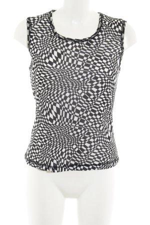 Orwell Longtop schwarz-weiß abstraktes Muster Casual-Look