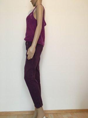 Orwell Pantalon 7/8 violet foncé-brun pourpre