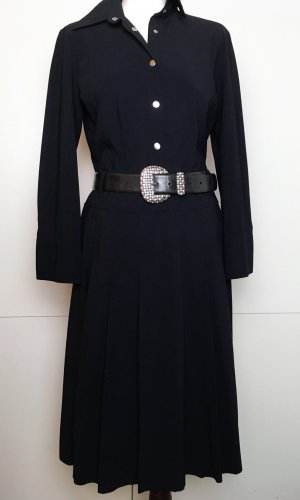* ORWELL * Midi KLEID langarm Jersey schwarz Druckknöpfe silber Gr 40
