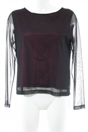 Orwell Mesh Shirt black-bordeaux casual look