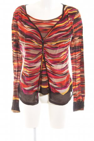 Orwell Slip-over blouse abstract patroon casual uitstraling