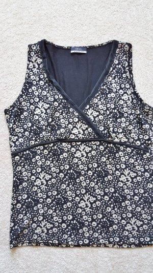Orwell V-hals shirt wit-zwart