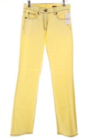 Orwell Straight-Leg Jeans hellgelb Casual-Look