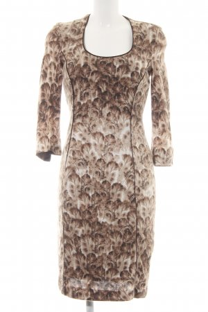 Orwell Knitted Dress camel-cream abstract pattern extravagant style