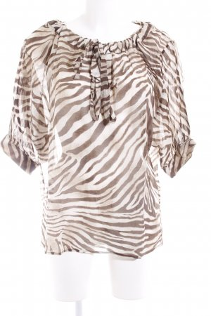Orwell Transparenz-Bluse creme-hellbraun Animalmuster Casual-Look
