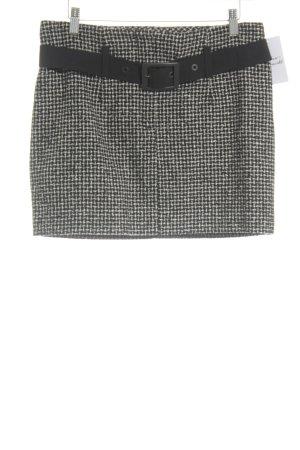Orwell Jupe en tweed noir-blanc cassé style classique