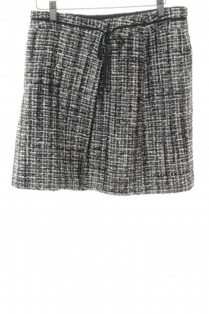 Orwell Wraparound Skirt black-white flecked casual look