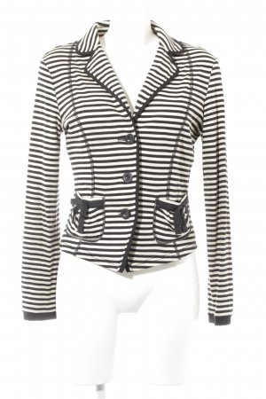 Orwell Wool Blazer black-natural white striped pattern casual look