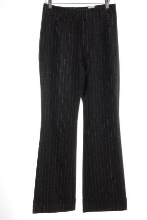 Orwell Pantalon en laine gris anthracite motif rayé style d'affaires