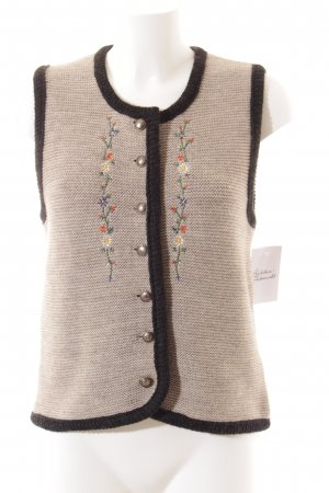 OS Trachten Folkloristische vest bloemenprint klassieke stijl