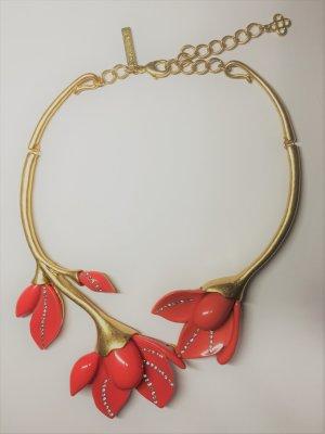Oscar de la Renta - Magnolienblüten Halskette