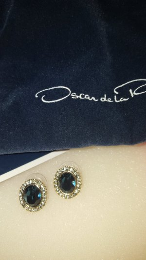 Oscar de la renta Ear stud gold-colored-dark blue