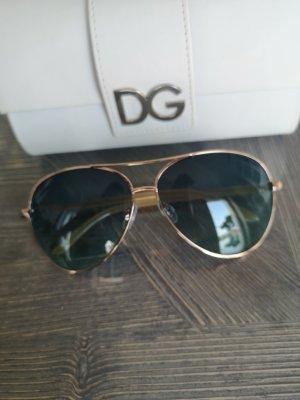 Oscar de la renta Ovale zonnebril goud-azuur