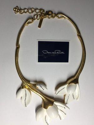 Oscar de la Renta Weiße Magnolie Colliers